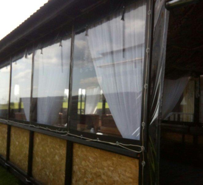 Мягкие окна деревянную беседку 12 на 6