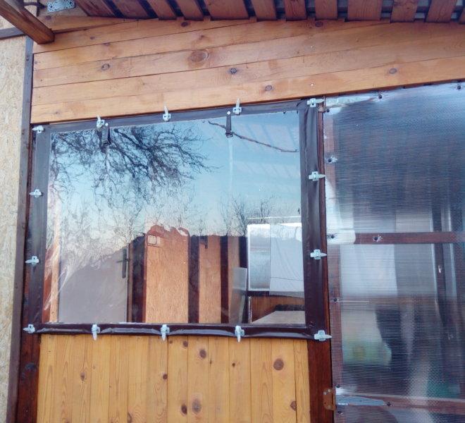 Мягкие окна на ремешках
