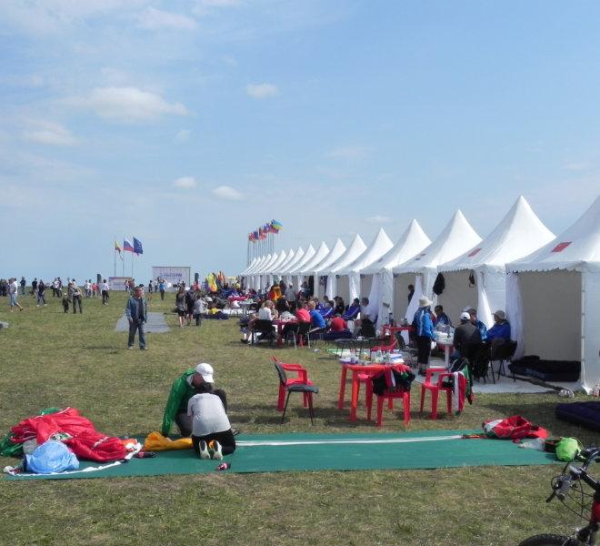 Палатка тентовая 2 на 2 для участников конкурса по парашютному спорту