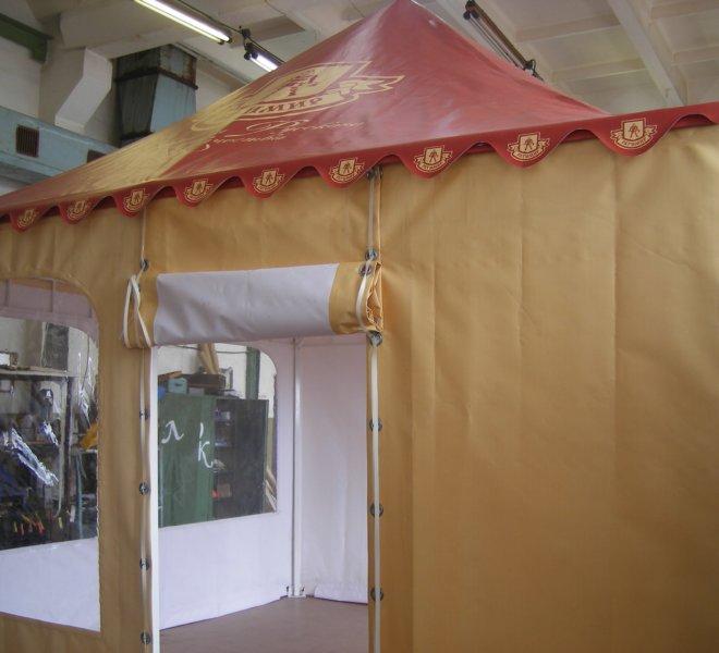 Палатка тентовая 4 на 4 с нанесением рекламы