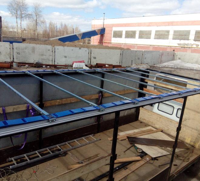 Установка системы сдвижной крыши